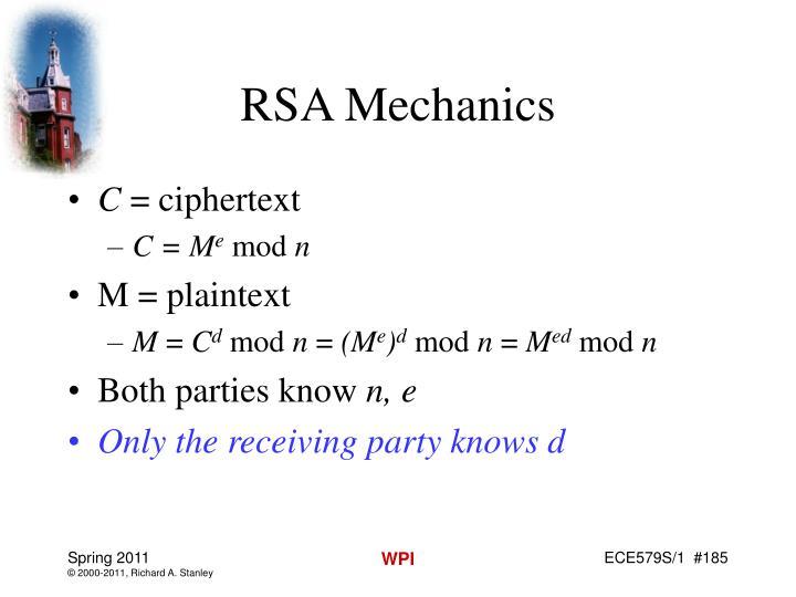 RSA Mechanics
