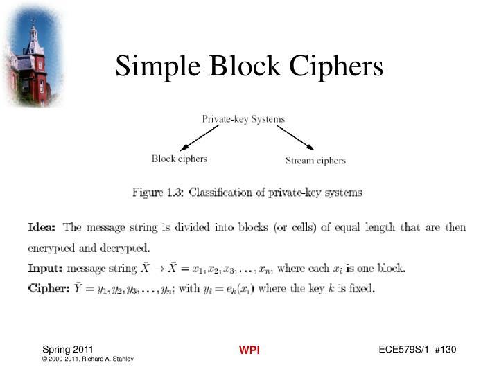 Simple Block Ciphers
