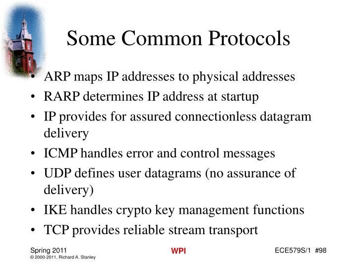 Some Common Protocols