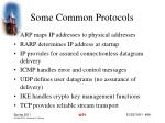 some common protocols