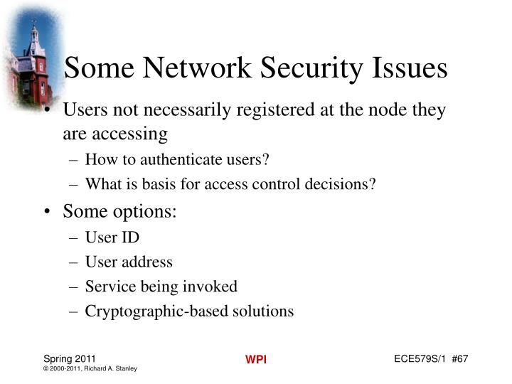 Some Network Security Issues