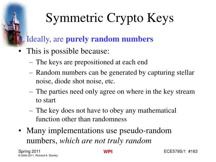 Symmetric Crypto Keys