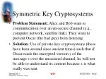 symmetric key cryptosystems