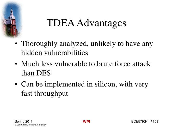 TDEA Advantages