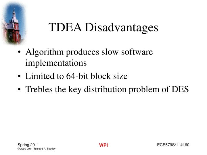 TDEA Disadvantages