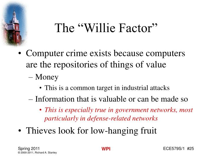 """The """"Willie Factor"""""""
