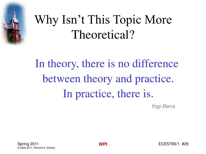Why Isn't This Topic More Theoretical?
