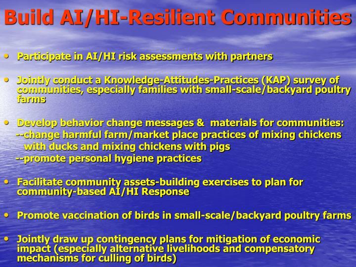 Build AI/HI-Resilient Communities