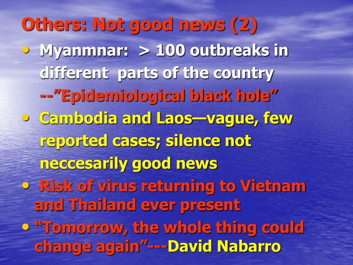 Others: Not good news (2)