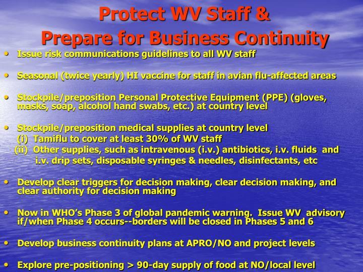 Protect WV Staff &