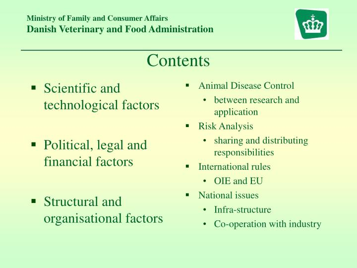 Scientific and technological factors