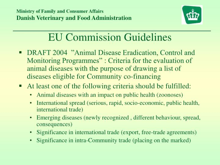 EU Commission Guidelines