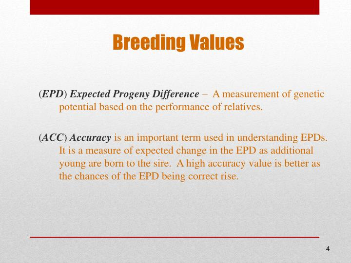 Breeding Values