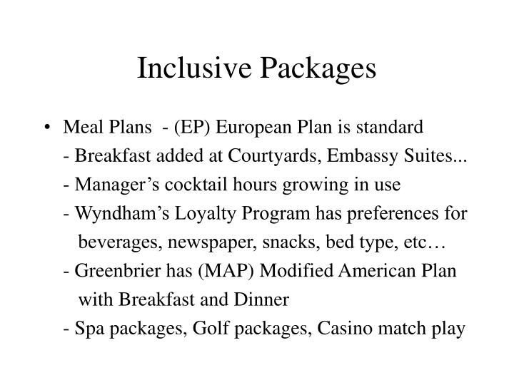 Inclusive Packages