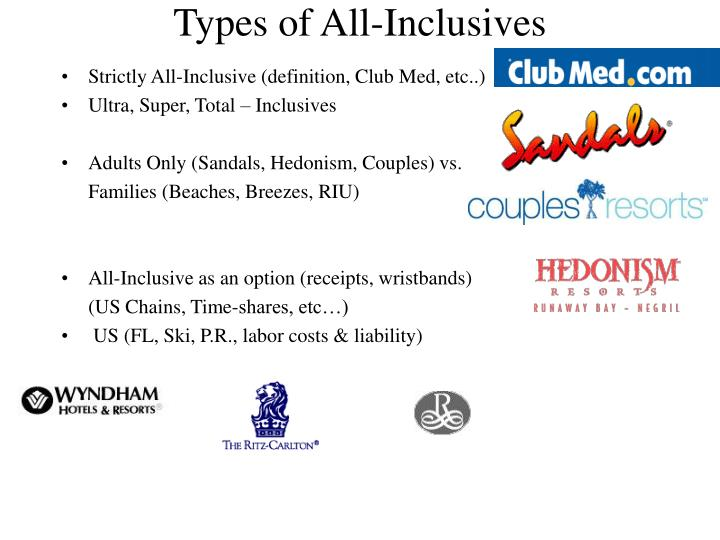 Types of All-Inclusives