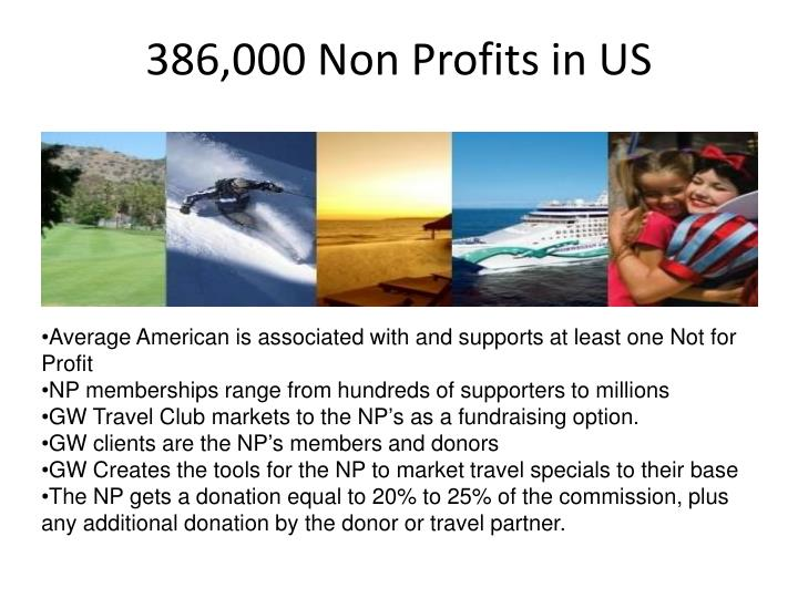 386,000 Non Profits in US