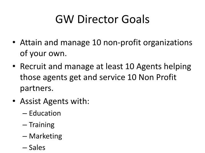 GW Director Goals