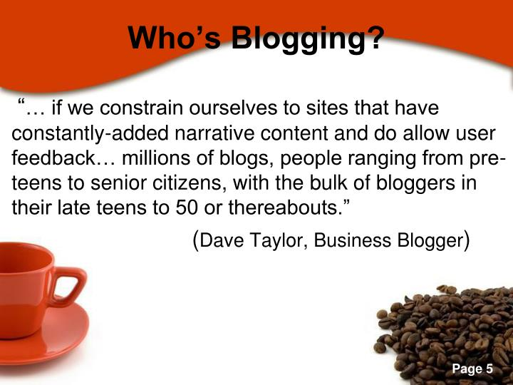 Who's Blogging?