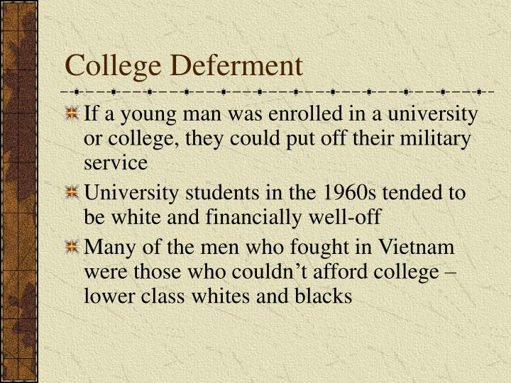 College Deferment