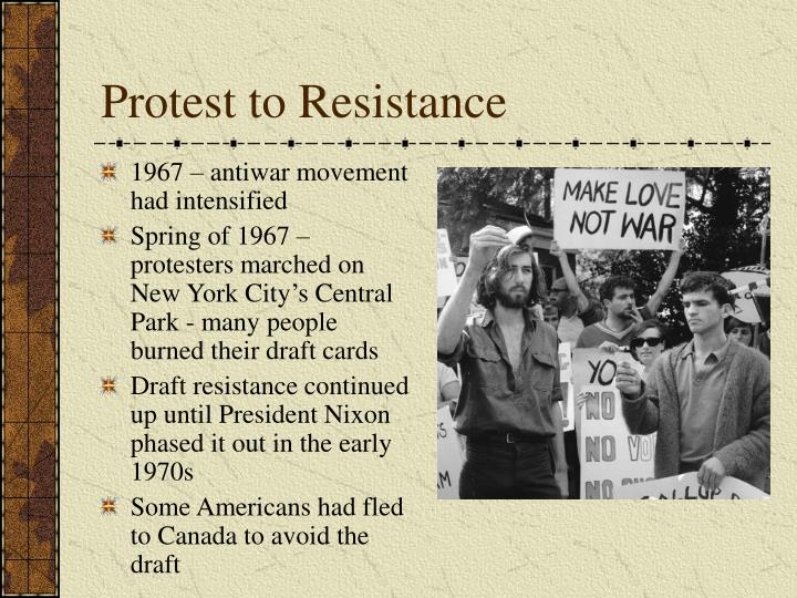Protest to Resistance