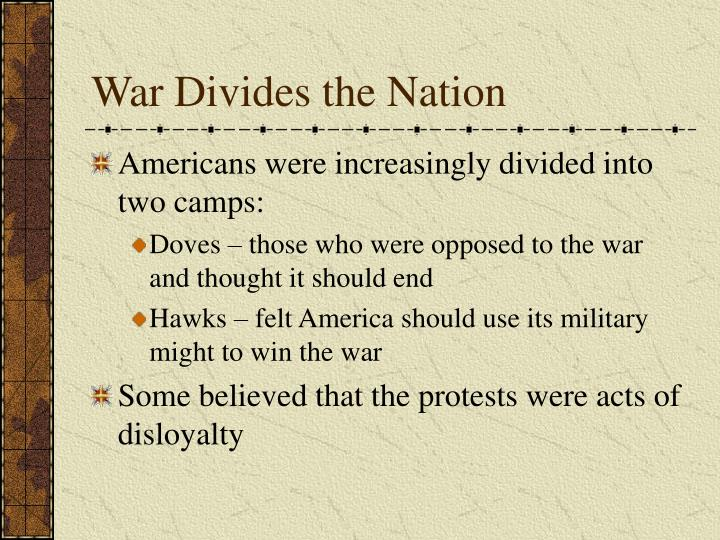 War Divides the Nation