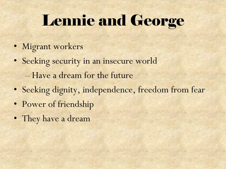 Lennie and George