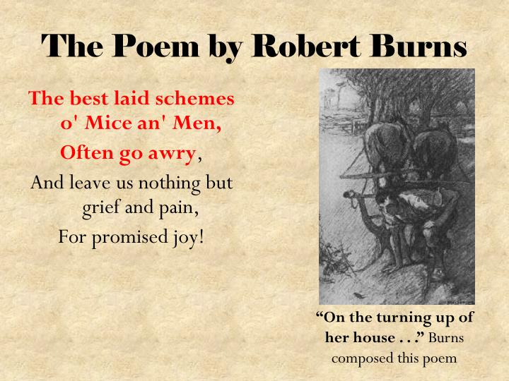 The Poem by Robert Burns
