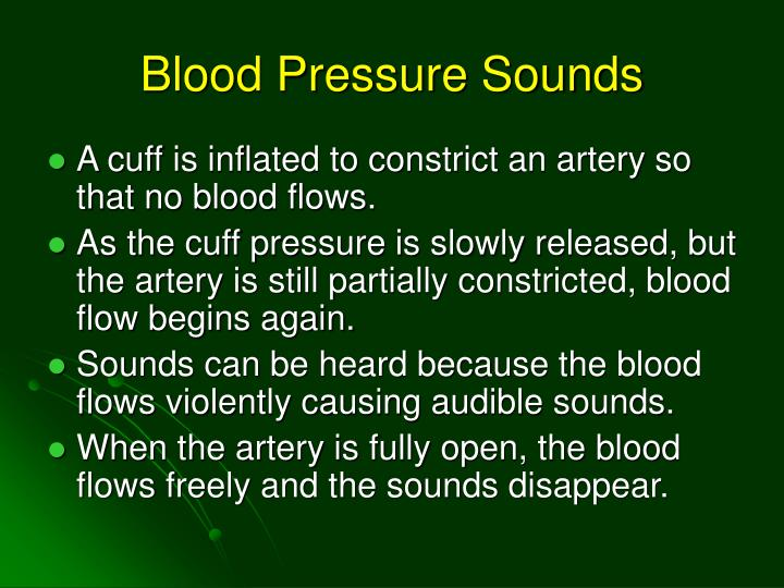 Blood Pressure Sounds