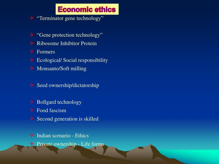 Economic ethics