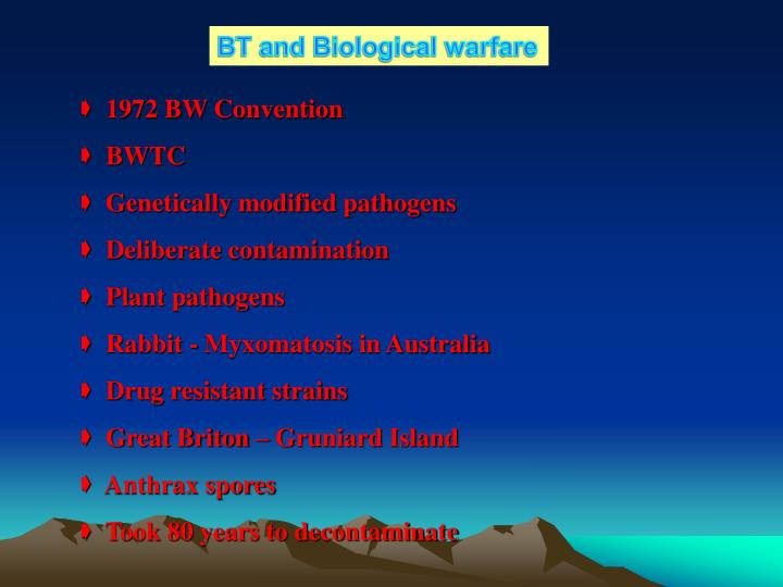 BT and Biological warfare
