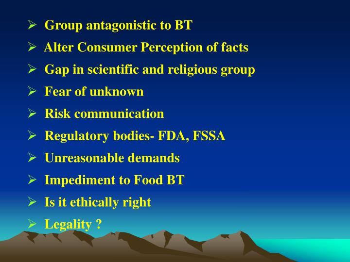 Group antagonistic to BT
