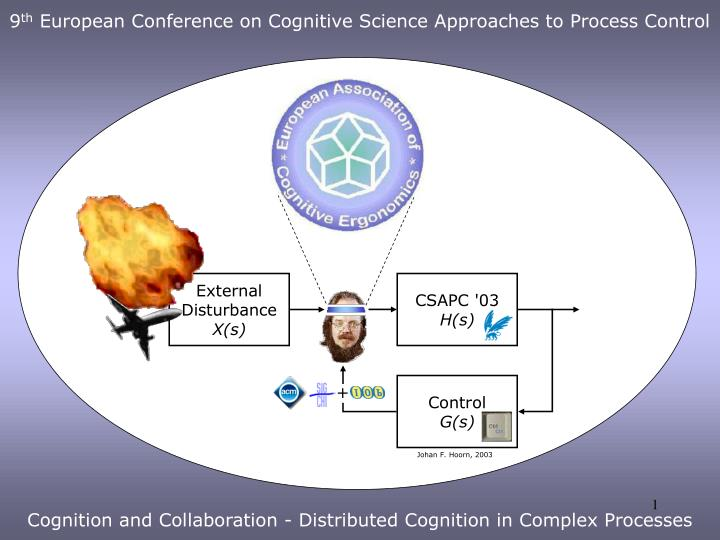 9 th european conference on cognitive science approaches to process control cognition and collaboration distributed cognition in complex processes