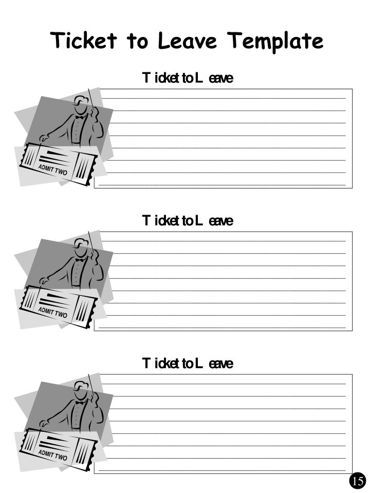 Ticket to Leave Template