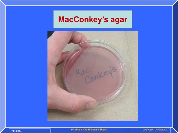 MacConkey's agar