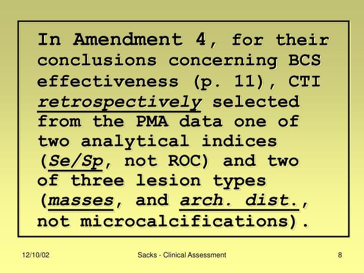 In Amendment 4,