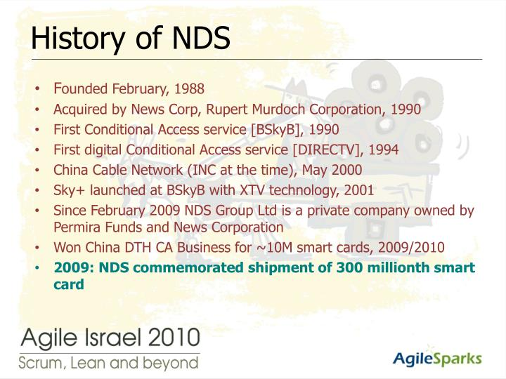 History of nds
