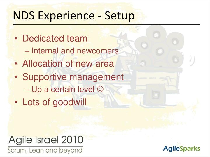 NDS Experience - Setup