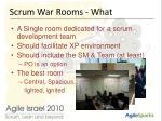 scrum war rooms what