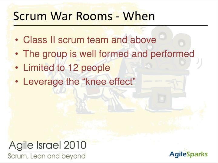 Scrum War Rooms - When