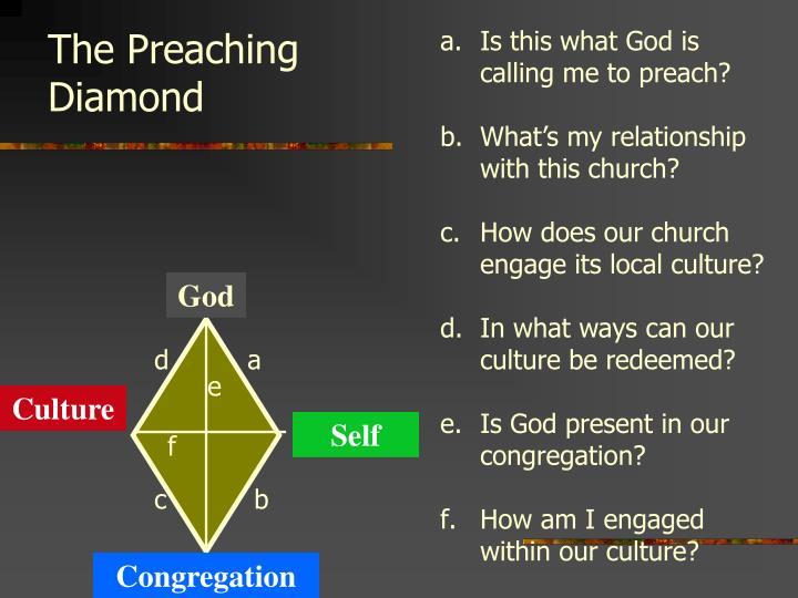 The Preaching Diamond