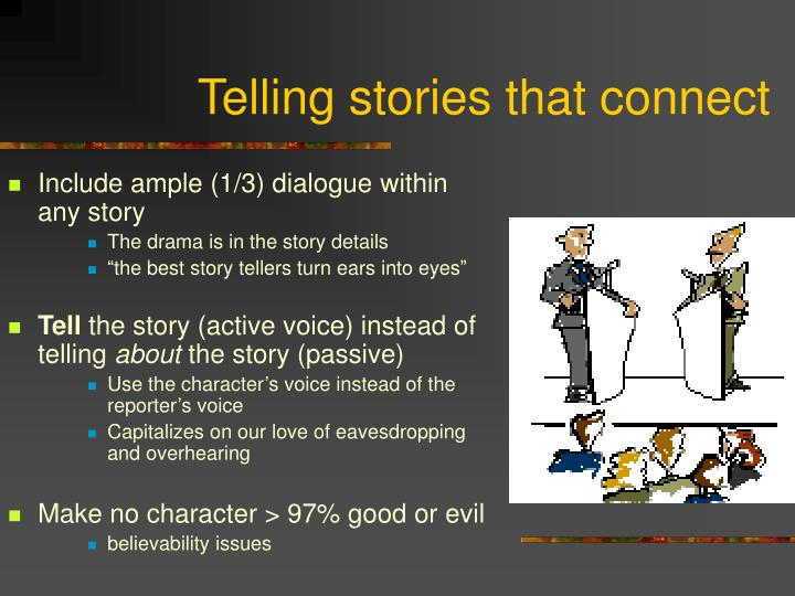 Telling stories that connect