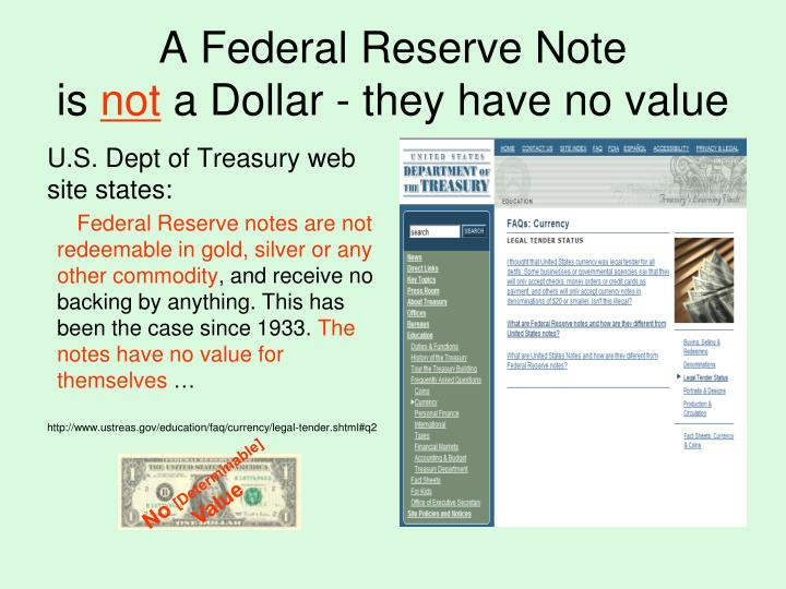 A Federal Reserve Note