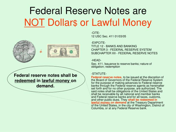 Federal Reserve Notes are