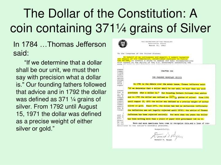 The Dollar of the Constitution: A