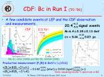 cdf bc in run i 91 96