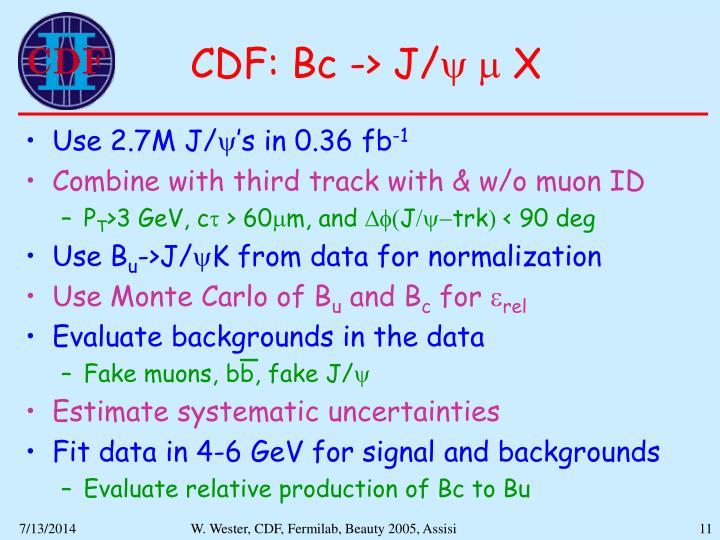 CDF: Bc -> J/