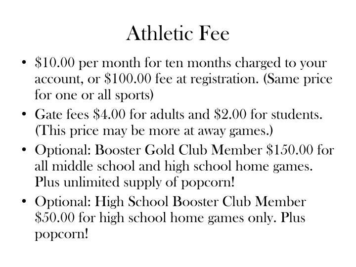 Athletic Fee