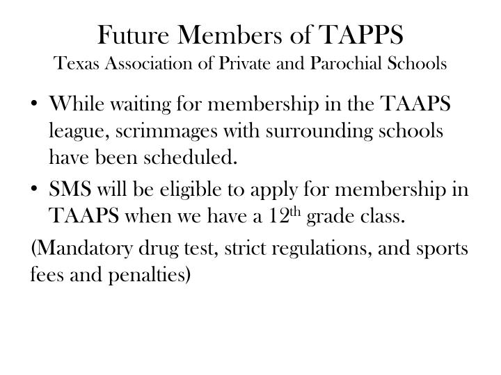 Future members of tapps texas association of private and parochial schools