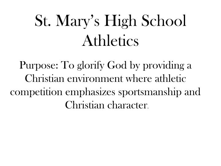 St. Mary's High School Athletics