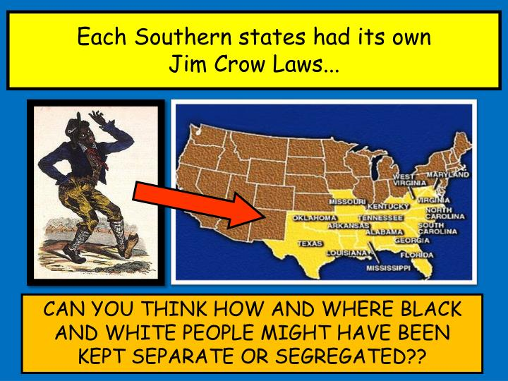 Each Southern states had its own